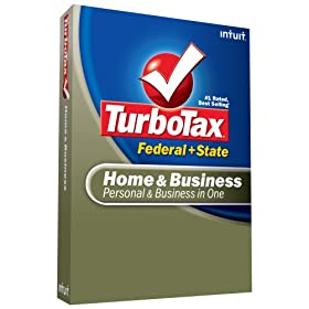 TurboTax Home & Business Federal + State + eFile 2008