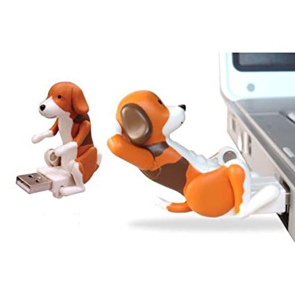 Vktech USB Hump Dog Funny Humping Spot Dog Christmas Toy Gift (Coffee)