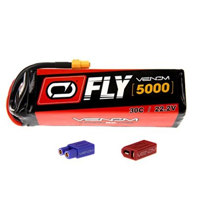 E-flite-Carbon-Z-T-28-30C-6S-5000mAh-222V-LiPo-Battery-with-UNI-20-plug-by-Venom-Compare-to-E-flite-EFLB50006S30