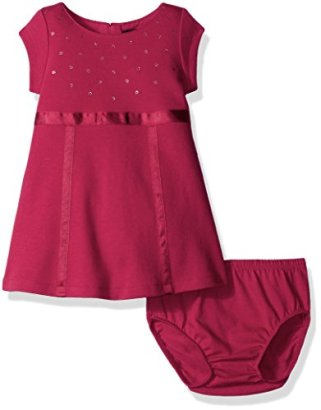 Nautica-Baby-Girls-Knit-Dress-with-Sequin-Neckline-and-Grosgrain-Trims