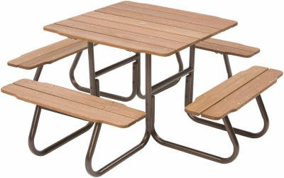 SALE JackPost WLZ Four Sided Picnic Table Bronze Finish Swag - Four sided picnic table