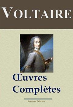 Livres Couvertures de Voltaire : Oeuvres complètes - 109 titres et annexes - édition enrichie - Arvensa éditions