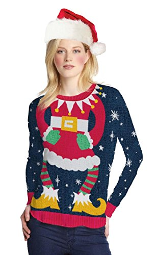 Womens-Miss-Claus-Ugly-Sweater-Long-Sleeve-T-Shirt
