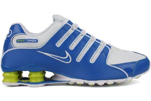 Buy Nike Shox NZ Mens Running Shoes 378341-410 (9 D(M) US, Soar/Soar-White-Cyber)