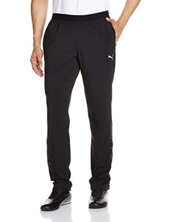 Puma Men's Polyester Track Pants (4056204304952 51379401 Large Black)