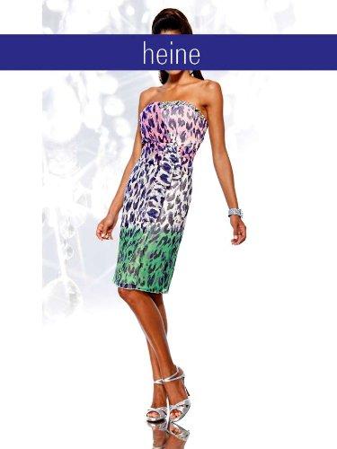 Heine Damen-Kleid Chiffon-Corsagen-Kleid mit Strass bunt
