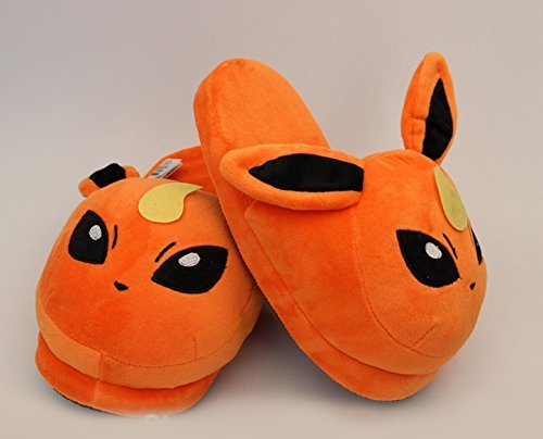 Fatflyshop - Pokemon Flareon Anime Cartoon Plush Indoor Bedroom Winter Slipper