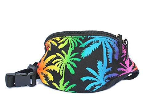 Chira Designs Rainbow Palm Tree fabric Fanny Pack - Waist Bag