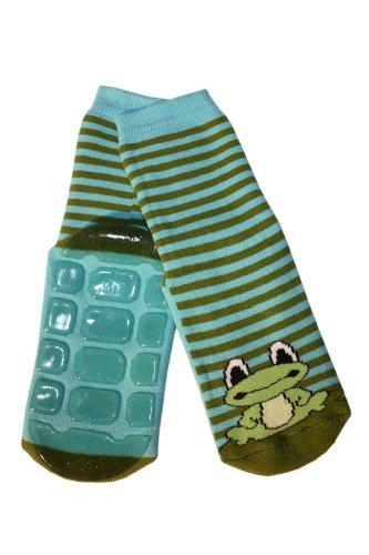 Weri Spezials Voll – ABS Socke, Frosch Motiv in Blau-gruen