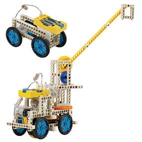 Build 10 remote control models including a crane and a simple car