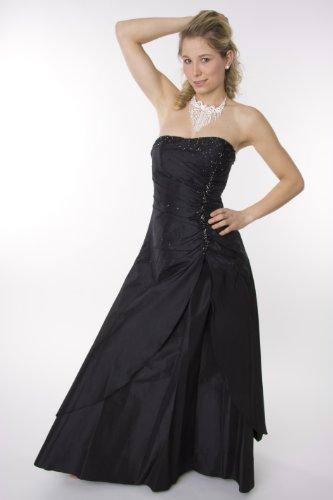 2010 Abendkleid lang, schulterfrei, schwarz Größe 40