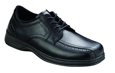 Orthofeet Gramercy Mens Extra Depth Orthopedic Arthritis And Diabetic Dress Shoes Black Leather 11.5 XW US