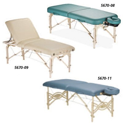 Earthlite Spirit Massage Tables - Vanilla Creme, Tilt Portable Massage Table