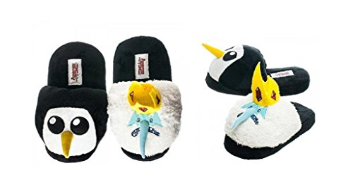 Adventure Time Ice King & Gunter Plush Slipper - Size Large