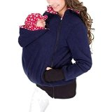 AIYUE-Damen-3-in-1-Kangaroo-Mutterschaft-kuschelige-Tragejacke-aus-Polar-Fleece-Warm-Oberbekleidung-Stillzeit-Hoodie-Pullover-Fleecepullover-Babycarrier-Coat