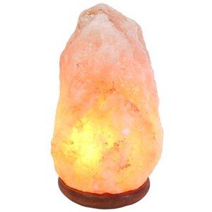 One salt lamp shown with an orange glow
