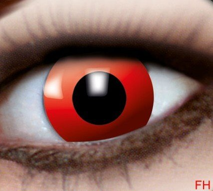 1 Paar farbige Kontaktlinsen roter Teufel 12 monats Linse