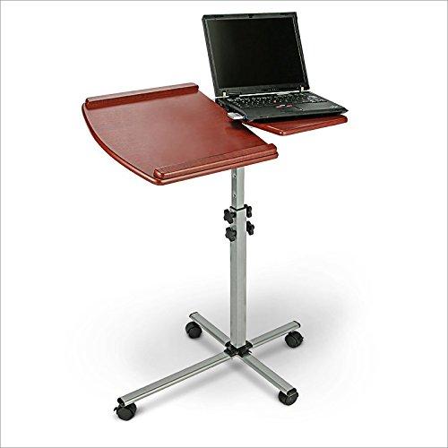 Relaxdays Laptoptisch Pult mit 4 Rollen höhenverstellbar 75,5 x 57,5 x 74,5 – 107 cm