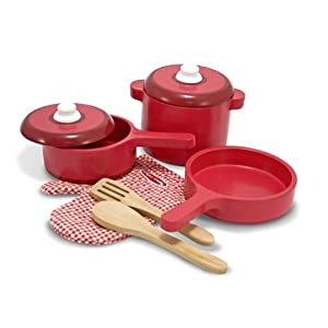 Melissa & Doug Deluxe Wooden Kitchen Accessory Set