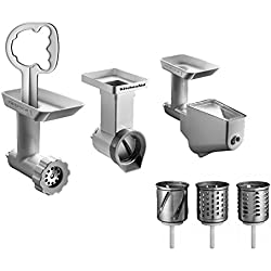 Générique Fppc - Accesorios para robot de cocina (picador, colador y rallador en cilindros)