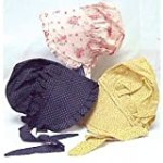 Baby Bonnet Assorted Colors 100% Cotton: Includes One Individual Bonnet – Colors May Vary
