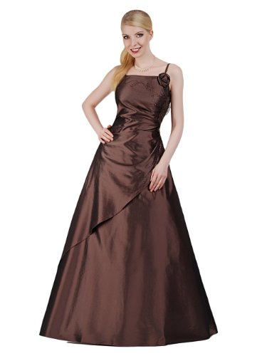 Envie/Paris - 1009 SOPHIA Abendkleid Ballkleid 1-teilig in Braun Gr.46 / 165cm