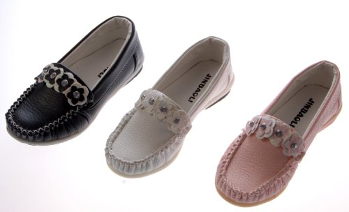 Kinder Ballerina Schuhe Schwarz Weiß Rosa Mokassin Sneakers Halbschuhe Mädchen