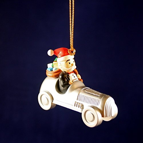 Mr Monopoly racing car Christmas ornaments