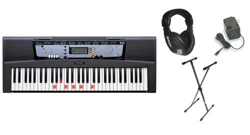 Yamaha EZ-200 61 Full-Sized Touch Sensitive Lighted Keyboard Bundle