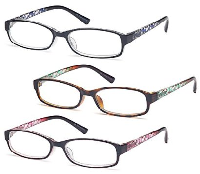 GAMMA-RAY-Readers-3-Pack-of-Thin-and-Elegant-Womens-Reading-Glasses-with-Beautiful-Patterns-for-Ladies