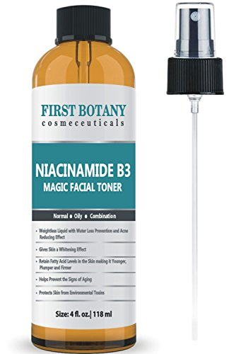 First Botany Niacinamide Vitamin B3 Magic Toner 4 fl. oz Water Loss Prevention Effect, Acne Fighting Effect and Skin Lightening Effect