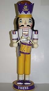NCAA LSU Tigers 14 Drummer Nutcracker One