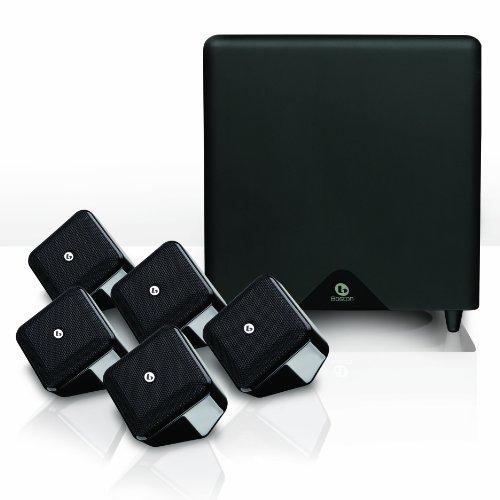 Boston Acoustics SoundWareXS 5.1 SE Heimkinosystem (Subwoofer 100 Watt, BassTrac) Hochglanz schwarz