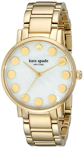 s 1yru0737 gramercy dot gold-tone stainless steel watch,kate spade new york women,video review,(VIDEO Review) kate spade new york Women's 1YRU0737 Gramercy Dot Gold-Tone Stainless Steel Watch,