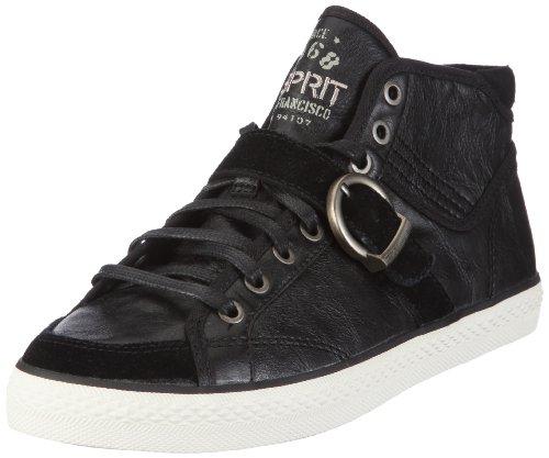 ESPRIT Kisha Bootie U13930, Damen, Sneaker, Schwarz (black 001), EU 38
