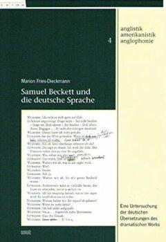 Herunterladen Samuel Beckett Und Die Deutsche Sprache Anglistik Amerikanistik Anglophonie Pdf