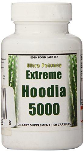 Eden Pond Extreme Hoodia 5000 Appetite Suppressant Hoodia Diet Pills, 60 Count