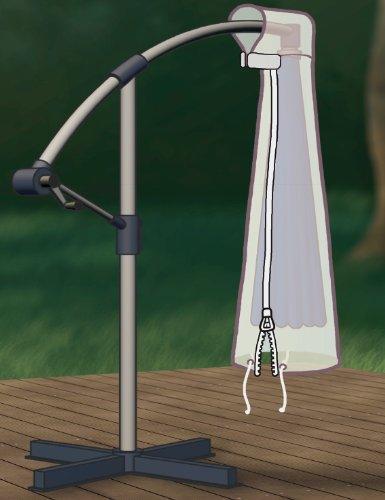Abdeckung Gartenmöbel Schutzhülle für Ampelschirm 3-4m