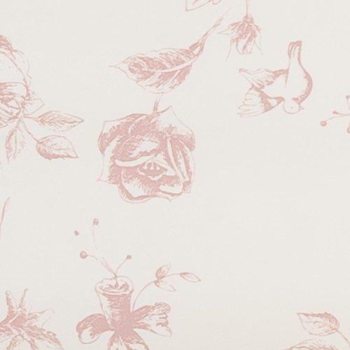 EDC92P Serie Etoffe de Clayre Farbe Pink Rosa Wachstuch Tischdecke 140 x 275 cm