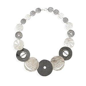 Textured Multi Design Disc Necklace