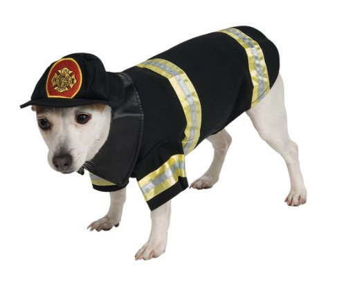 Rubies Costume Halloween Classics Collection Pet Costume, Medium, Fire Fighter