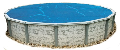 Swim Time 15-Feet Round 8-mil Solar Blanket for Above Ground Pools - Blue
