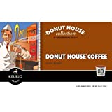 Donut House Collection Donut House Caffeinated Coffee for Keurig Brewing Systems, 80 K-Cups