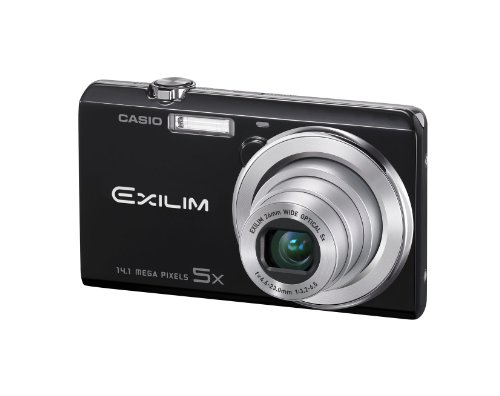 Casio Exilim EX ZS10 Black 14 MP Stylish And Slim Digital Camera With 5x Wide Angle Zoom 720p HD Video Capture