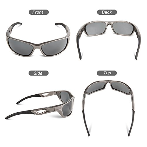 c1363f9730 RIVBOS Polarized Sports Sunglasses Driving Sun Glasses for Men Women Tr 90  Unbreakable Frame for Cycling Baseball Running ...