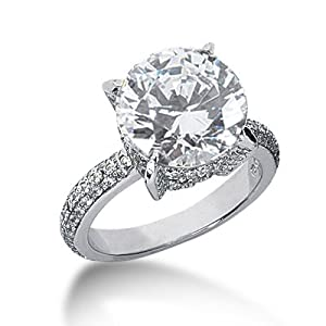 9.72 ctw Diamond Engagement Rings H SI-3,center 8.72carat