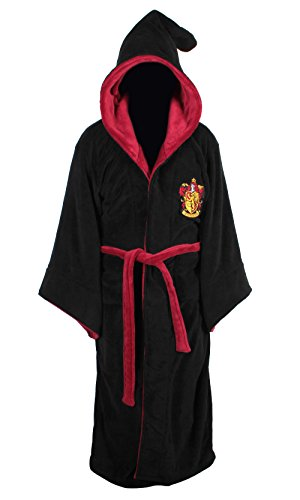 Harry Potter Gryffindor Adult Fleece Hooded Bathrobe (One Size)