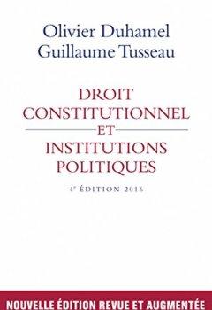 Livres Couvertures de Droit constitutionnel et institutions politiques