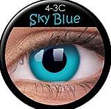 Fasching Kontaktlinsen Farbige Kontaktlinsen crazy Kontaktlinsen crazy contact lenses Blau Blue 1 Paar mit 60ml Kombilösung und Linsenbehälter!