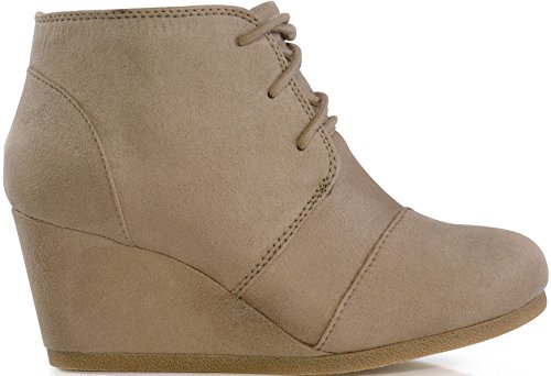 Marco Republic Galaxy Womens Wedge Boots - (Taupe) - 10